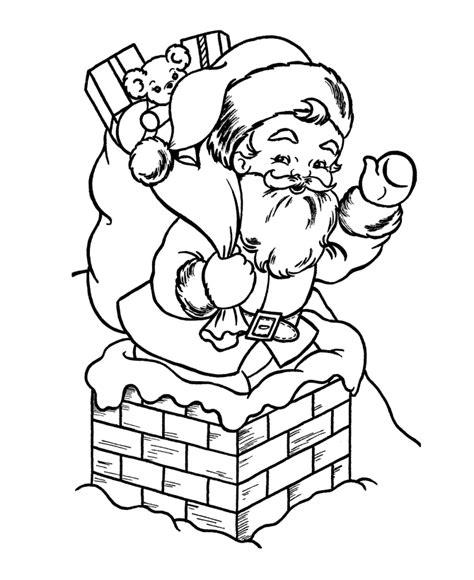 coloring pages santa chimney santa claus coloring pages santa claus out of the