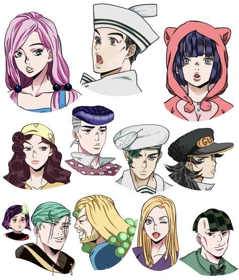jojo hair anime jojo8 in jojo4 anime style jojo s adventure