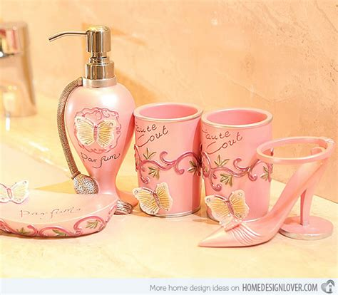 pink bathroom set 15 chic pink bathroom accessories set home design lover
