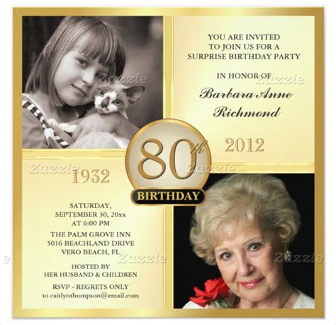 80th birthday invitation template 26 80th birthday invitation templates free sle