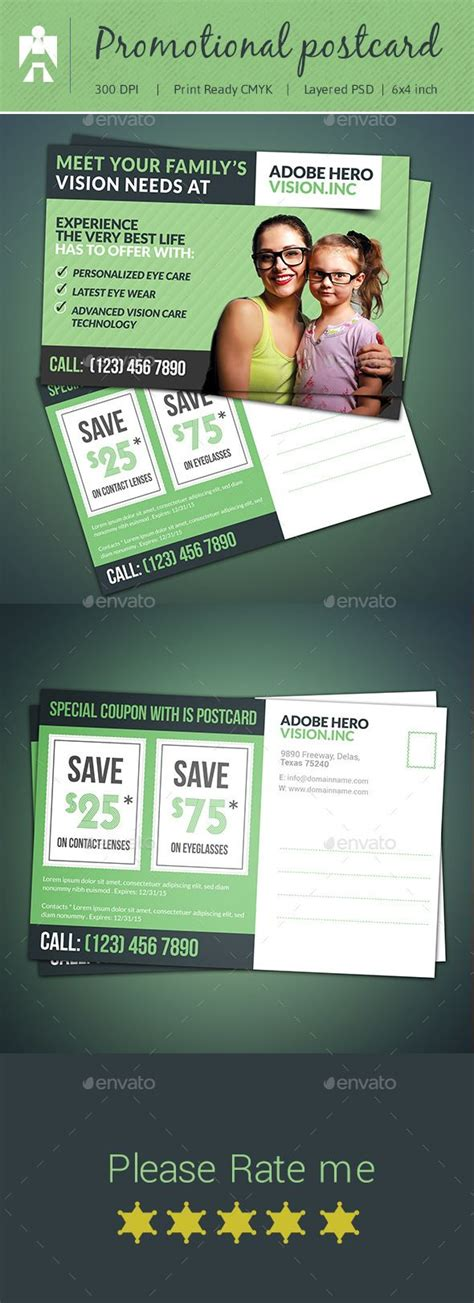 promotional postcard template best 25 direct mail postcards ideas on