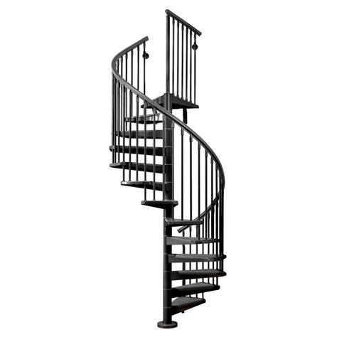 Powder Room - arke eureka 63 in black spiral staircase kit k21009 the home depot