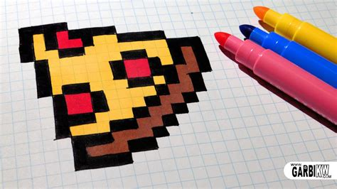 Handmade Minecraft - handmade pixel how to draw easy pizza pixelart
