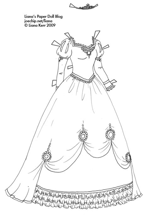 coloring pages of princess dresses coloring liana s paper dolls