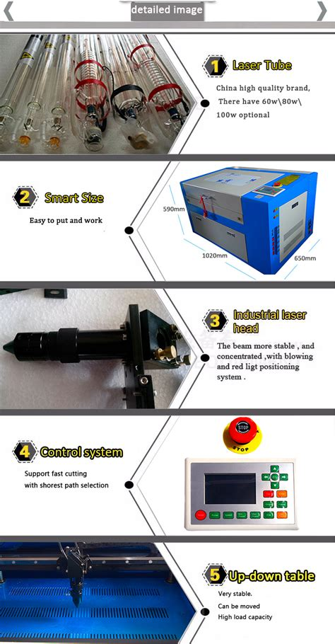 In 2018 Kh A4 Paper Acrylic Small 6040 Co2 Cutting Machine