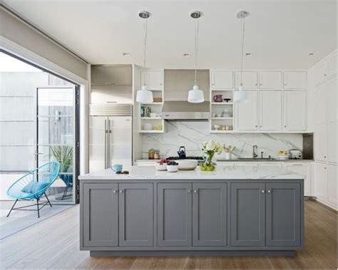 grey and white gray and white kitchens houzz