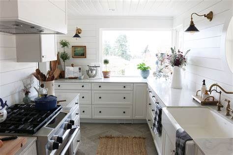 shiplap kitchen wall shiplap kitchen planked walls behind sink stove the