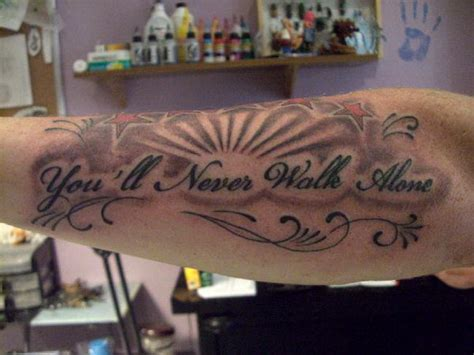 you ll never walk alone tattoo 30 cool cursive fonts ideas hative