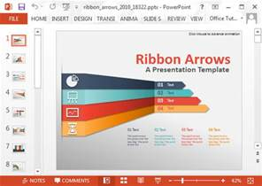 free infographic templates for powerpoint animated ribbon arrows infographic powerpoint template