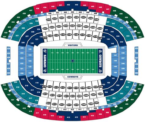 Stadium Seating by At T Stadium Dallas Cowboys Football Stadium Stadiums