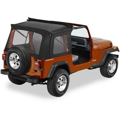 Jeep Sunrider Soft Top 51698 01 Bestop Sunrider Complete Soft Top Black For Jeep