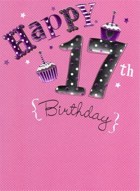 happy 17th birthday images happy 17th birthday foiled greeting card second nature