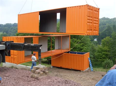 container van house design plan cranes positioning a house made of recycled shipping