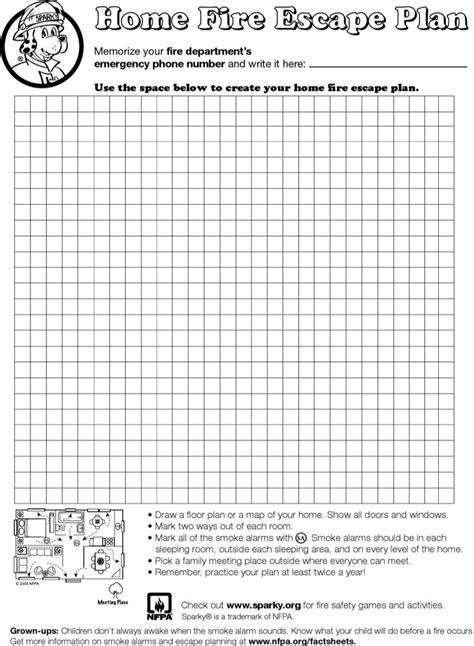 blank home blank home evacuation plan template for free