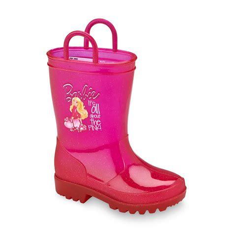 kids light up rain boots upc 079092715567 mattel barbie s pink