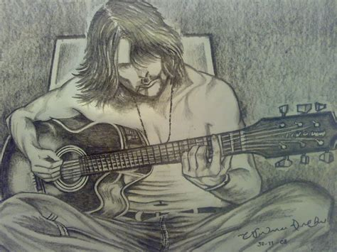 Sketches A Song by The Guitarist The Of Pencil Sketching Guitar