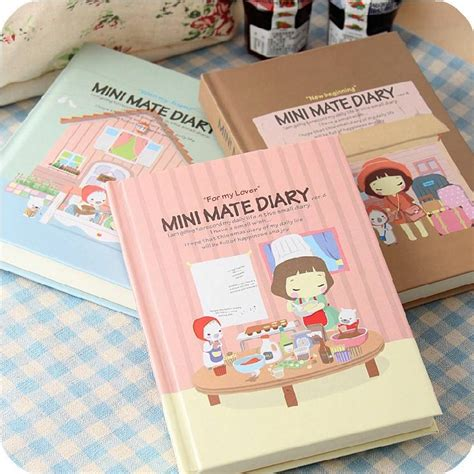 Mini Mate Diary quot mini mate quot 1pc cover diary planner pocket notebook korean journal