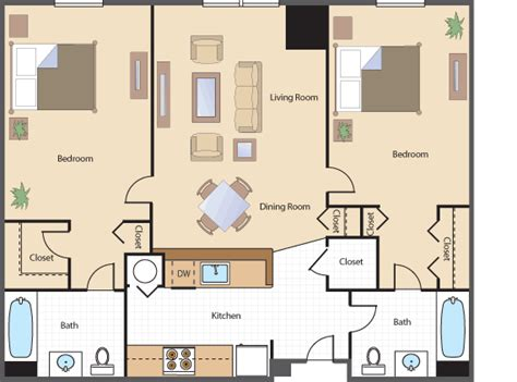 two bedroom two bathroom apartments bedroom bath apartment floor plans and two bedroom two