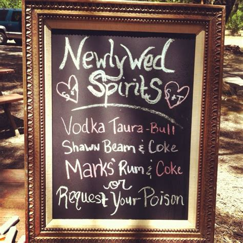 drinks with bride and grooms names i do pinterest