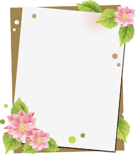 imagenes para hojas blancas marco de hojas decoradas imagui plantillas men 250