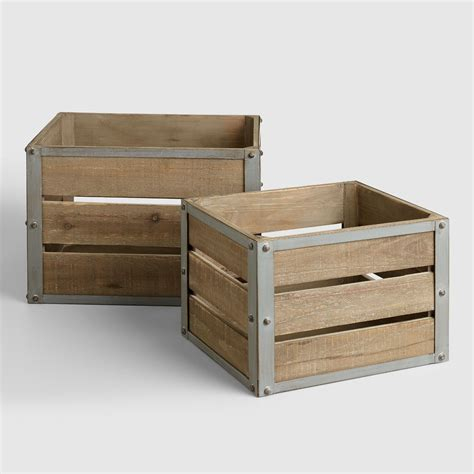 large crate cost plus world market sebastian crates wood large by world market large