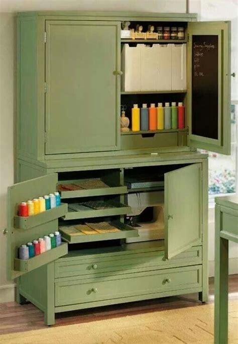 armoire turned craft cabinet upcycle ideas