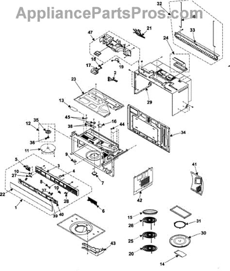 samsung microwave parts diagram samsung 4713 001165 halogen l appliancepartspros
