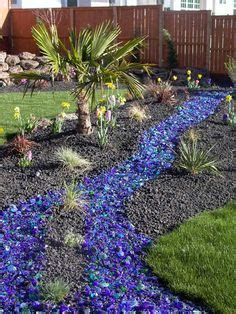 Colored Rocks For Garden 1000 Images About Landscape Glass Mulch On Pinterest