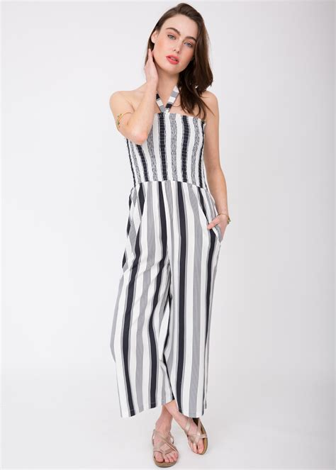 Wide Leg Cullote 2 2 in 1 wide leg culotte jumpsuit and trousers stripes likemary