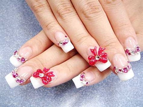 best 3d acrylic nail art design bright lights big color per your nails with 3d nail art