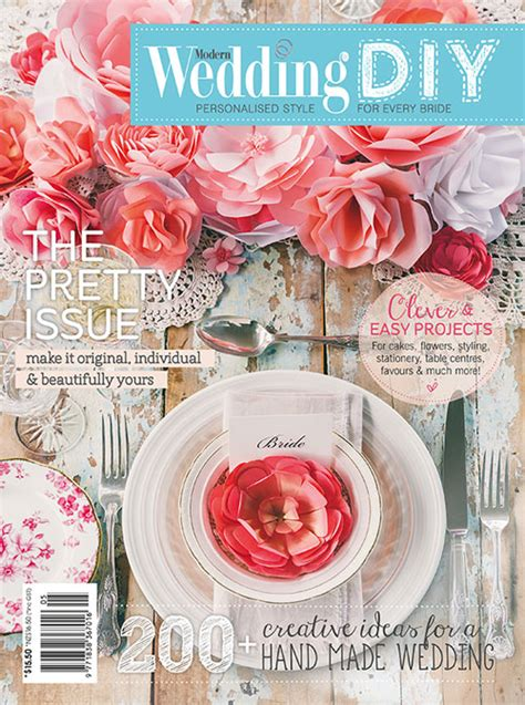 modern wedding diy magazine the pretty issue now on sale