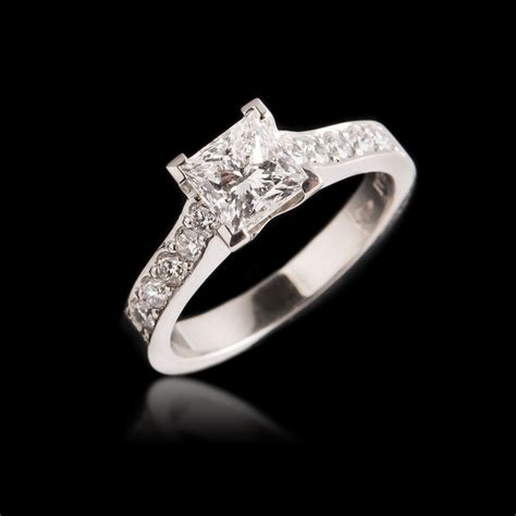 carats classic grain set engagement ring from 4000