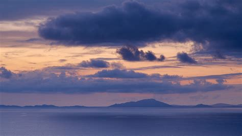 mountains sky clouds sea wallpapers