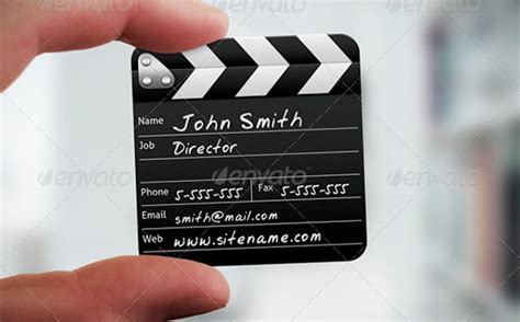 filmmaker business card template psd cool exles of square sized business cards