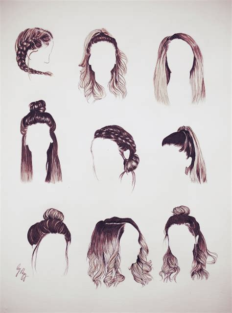 hairstyles drawing ideas hair style suggestions female male