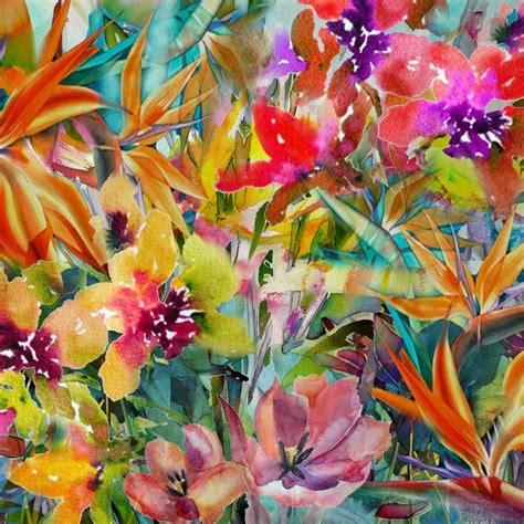 free printable tropical flowers tropical flowers print my collages prints pinterest