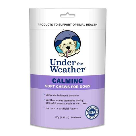 calming chews for dogs the weather calming soft chews for dogs 60 count naturalpetwarehouse