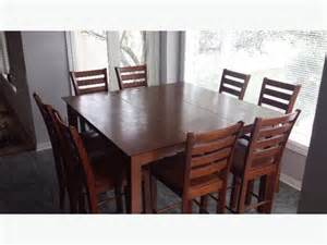 pub style dining sets with 8 chairs images