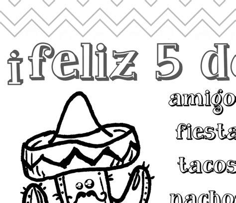 imagenes del 5 de mayo para colorear cinco de mayo coloring page for kids denna s ideas