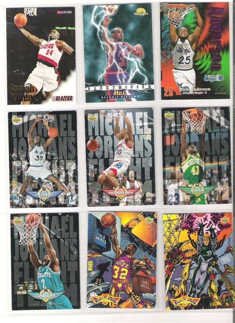 Kartu Basket K Malone C Barkley 1995 96 Stadium Club Nemeses N5 lot cartes basketball trading cards