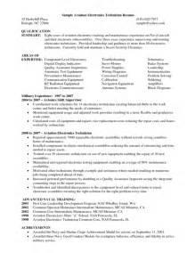 Sample Resume For Electronics Technician electronic technician resume sample electronics electronic technician