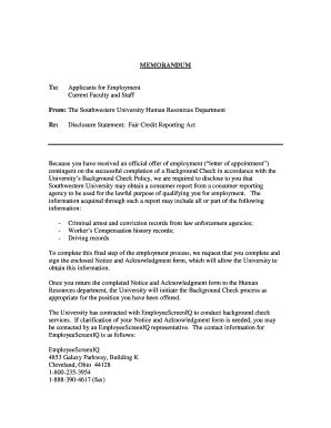 Offer Letter Pending Background Check rescind offer letter due to background check docoments