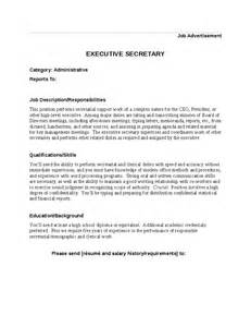 executive secretary job description hashdoc