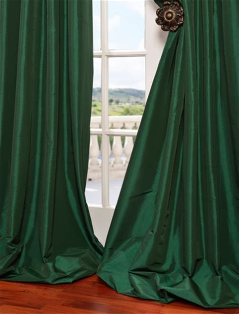 emerald green drapes emerald green curtains emerald green faux silk taffeta