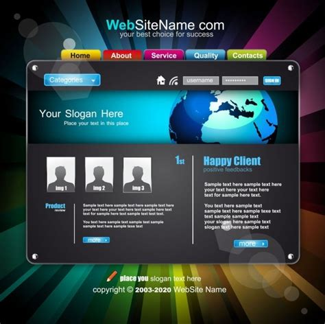 the trend of dynamic website templates 05 vector free