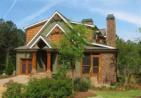 Rustic House Plan With Porches Stone And Photos Rustic Rustic Lake House Plans