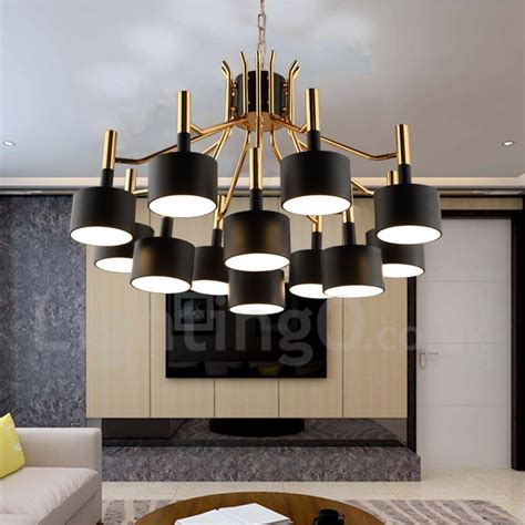 living room chandeliers modern modern contemporary 12 light 2 tier chandelier l for