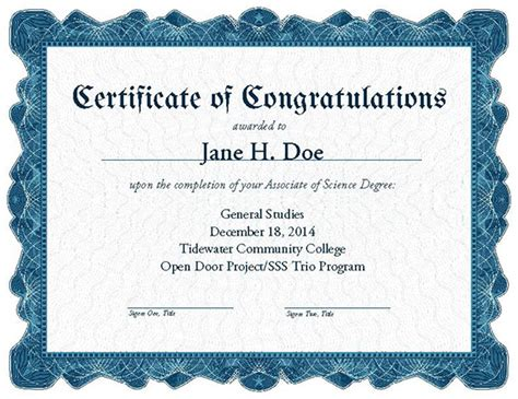 fancy certificate template tcc visual identity standards