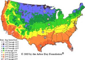 Landscape Zones Usa Hardiness Zone Map At Arborday Org