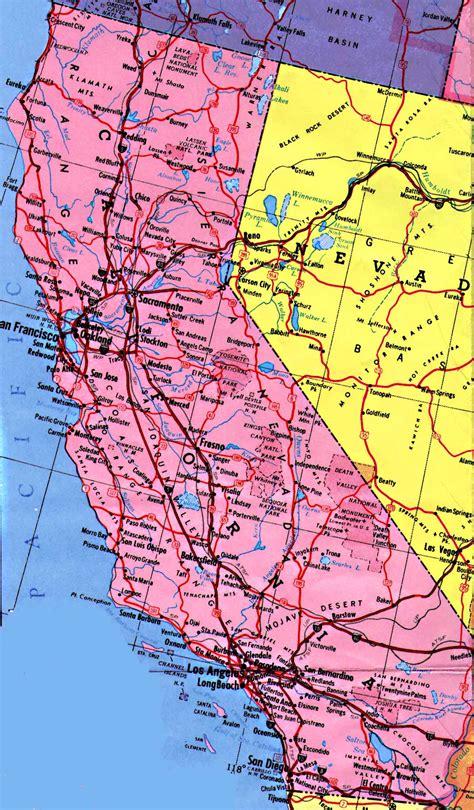 california map of state california maps